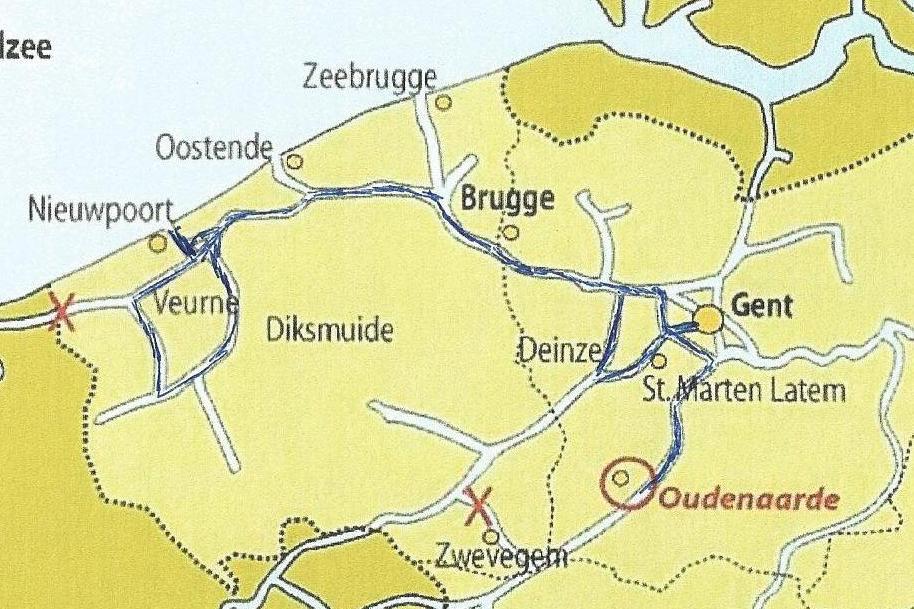 Speciale Westhoektocht in kaart
