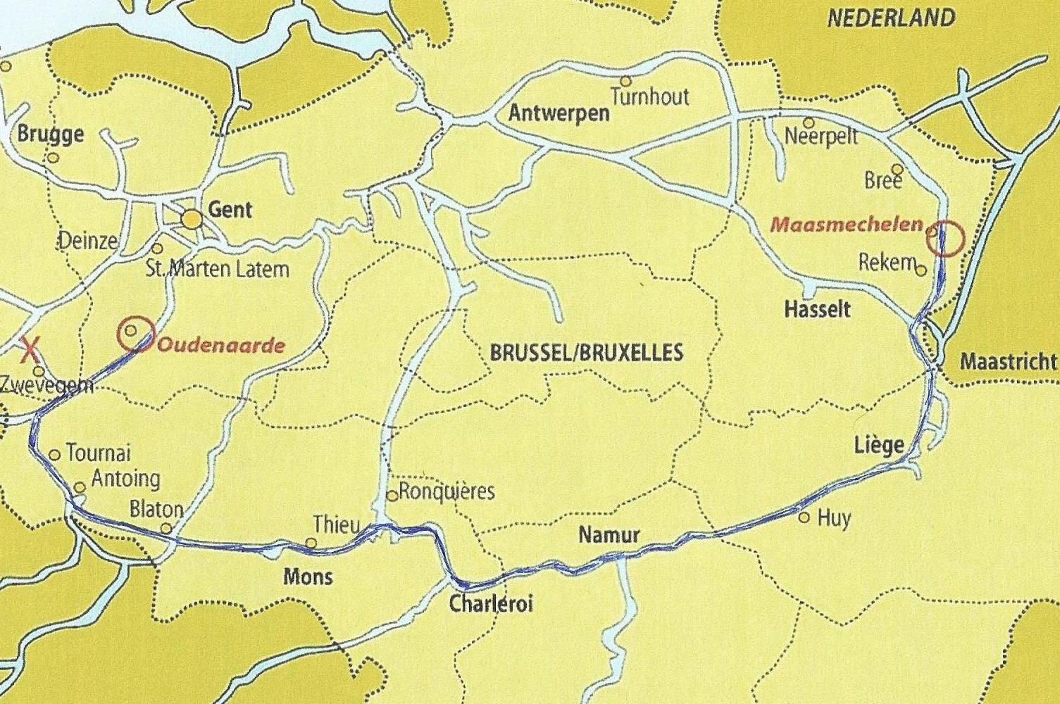 10 daagse tocht van Oudenaarde naar Maasmechelen of omgekeerd