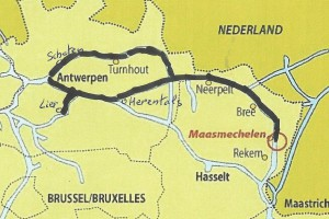 Kaart route LL